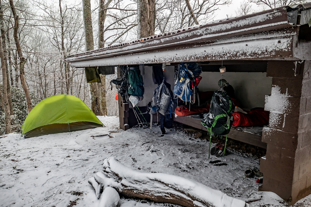 Worst Night of the Hike, Vandeventer Shelter, TN